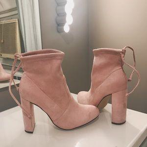 Lulus light pink booties